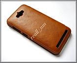 Коричневый кожаный чехол-книжка Nillkin QIN Flip Cover для Asus Zenfone MAX ZC550KL Z010D Z010DA, фото 3