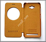 Коричневый кожаный чехол-книжка Nillkin QIN Flip Cover для Asus Zenfone MAX ZC550KL Z010D Z010DA, фото 4