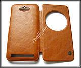 Коричневый кожаный чехол-книжка Nillkin QIN Flip Cover для Asus Zenfone MAX ZC550KL Z010D Z010DA, фото 5