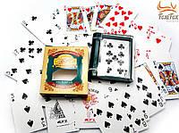 Пластиковые покерные карты в коробке