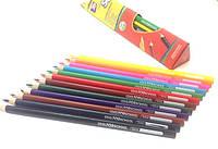 """Карандаши цветные """"Extra Soft"""", 12 цветов, треугольные, фото 1"""