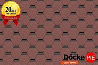 Битумная черепица Docke Pie Серия Standart Сота Красный