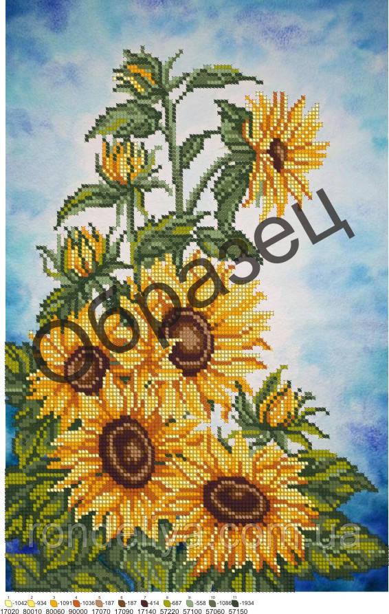 Схема для вишивки бісером «Соняшники»
