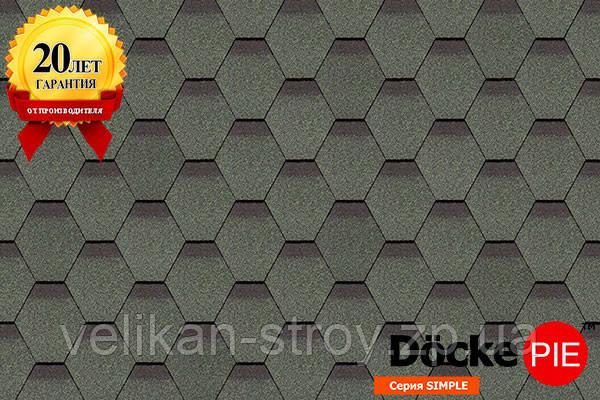 Битумная черепицаDocke Pie Серия Standart Сота Зеленый