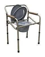 Стілець – туалет регульований за висотою складаний MEDOK