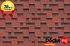 Битумная черепица Docke Simple Тетрис Красный