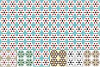 Декоративная цементная плитка ручной работы в марокканском, тунисском, восточном стиле, 20х20 см. Декоры