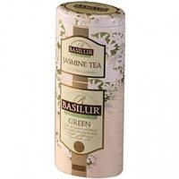 "Чай Basilur ""Цветы и Фрукты Цейлона"" Зеленый чай + Жасмин 125 г Ж/Б"