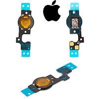 Шлейф для Apple iPhone 5C, кнопки меню, оригинал