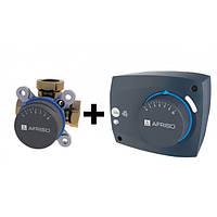 "AFRISO Комплект: ARV384 клапан 3-ходовой Rp 1"" DN25 kvs 12 + ARM323 электропривод 230В 60сек. 6Нм 3 точки"