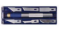 Набір ножів моделярських, 6 шт. +  тримач / Набор ножей моделярских, 6 шт. + держатель