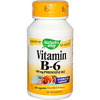 Витамин B6, Nature's Way, 100 капсул