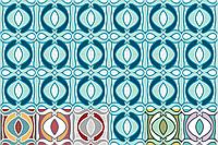 Декоративная цементная плитка ручной работы в стиле Арт Нуво, art nouveau,  20х20 см. Орнамент и бордюр., фото 1