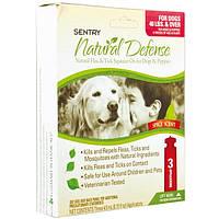 Sentry Natural Defense натуральные капли от блох и клещей для собак и щенков от 18 кг