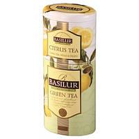 "Чай Basilur ""Цветы и Фрукты Цейлона"" Зеленый чай + Цитрус 125 г Ж/Б"