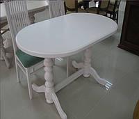 Стол для кухни овальный из натурального дерева «Гирне 5» 1200(1600)х800