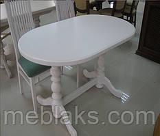 Стол для кухни овальный из натурального дерева «Гирне 5»