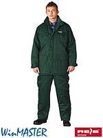 Зимний комплект рабочий зеленый REIS Польша (костюм утепленный рабочий куртка и брюки зимние) UMO-LONG Z