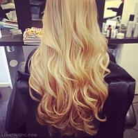 Наращивание Волос в Киеве Блонд 50 см