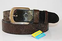 Ремень кожаный унисекс 40 мм комбинированный цвет коричневый/чёрный змеиная кожа