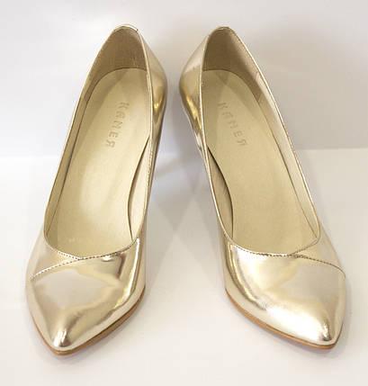 Туфли женские золотистые Камея 1321, фото 2