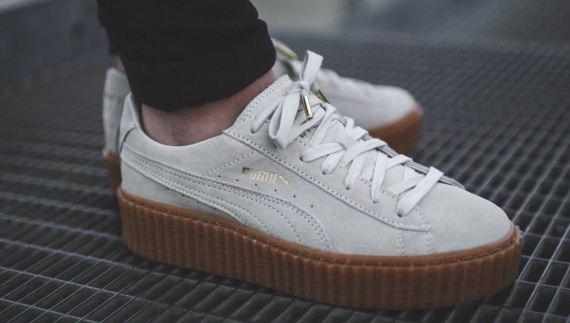 Мужские кроссовки Puma x Rihanna Suede Creepers white - Интернет магазин обуви  Shoes-Mania в 50126cf9062