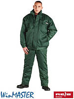 Комплект утепленный рабочий зеленый REIS Польша (костюм зимний рабочий брюки и куртка) UMO-PLUS Z
