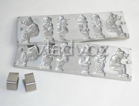 Алюминиевая форма для леденцов конфеты на палочке мишка, фото 2