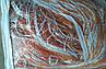 Шторы-нити кисея люрекс радуга 3мх3м оранжевый с белым, фото 2