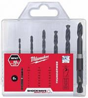 Milwaukee Shockwave Impact Duty D 3/4/5/6/7/8 мм. (6шт)   Набор сверл по металу