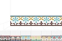 Марокканская плитка, декоративная цементная плитка ручной работы, 20х20 см. Плинтуса