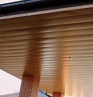 Подвесной реечный потолок металлический
