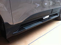 Hyundai IX-35 2010-2015 гг. Боковые площадки Niken OEM (2 шт, пластик)