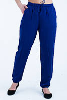 Яркие летние синие женские брюки.