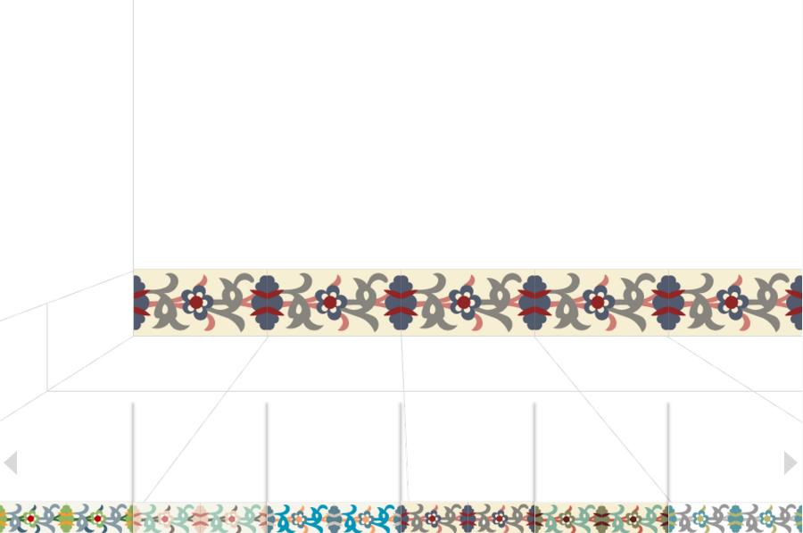 Декоративная цементная плитка ручной работы в марокканском стиле, 20х10 см. Плинтуса