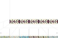 Декоративная цементная плитка ручной работы в марокканском стиле, 20х10 см. Плинтуса, фото 1