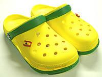 Пляжные сабо мужские желтого цвета