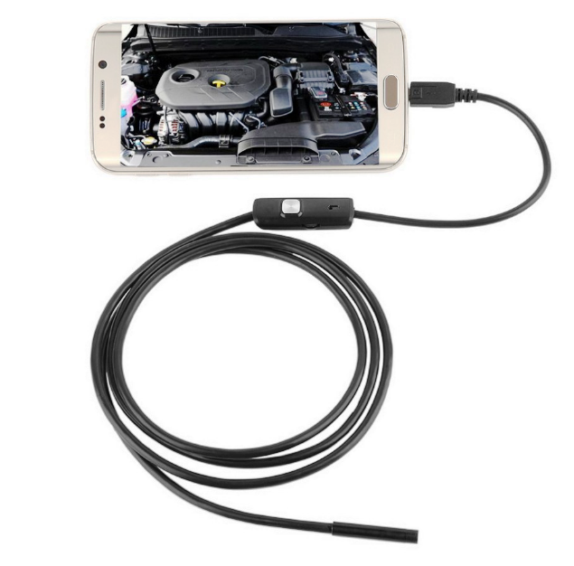 Usb эндоскоп  водонепроницаемый HD 1,5м 5,5мм