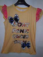 Детская турецкая футболка для девочки , фото 1