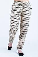 Легкие летние женские брюки в горох., фото 1