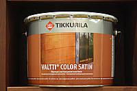Лессирующий антисептик на основе льняного масла Валтти Колор Сатин Тиккурила, база ЕС, 9л