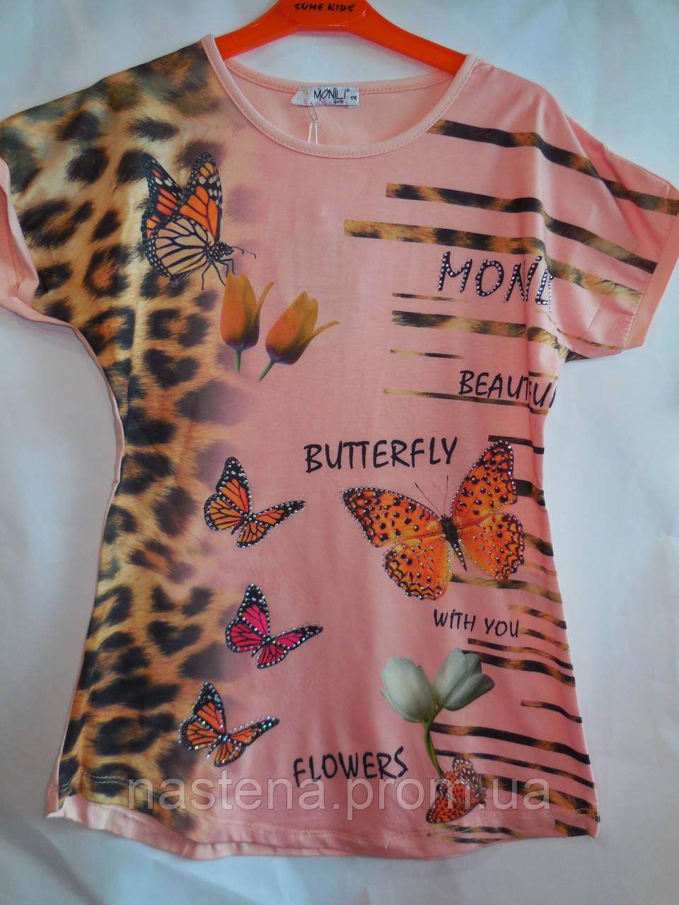 Детская одежда для девочки футболка Monili