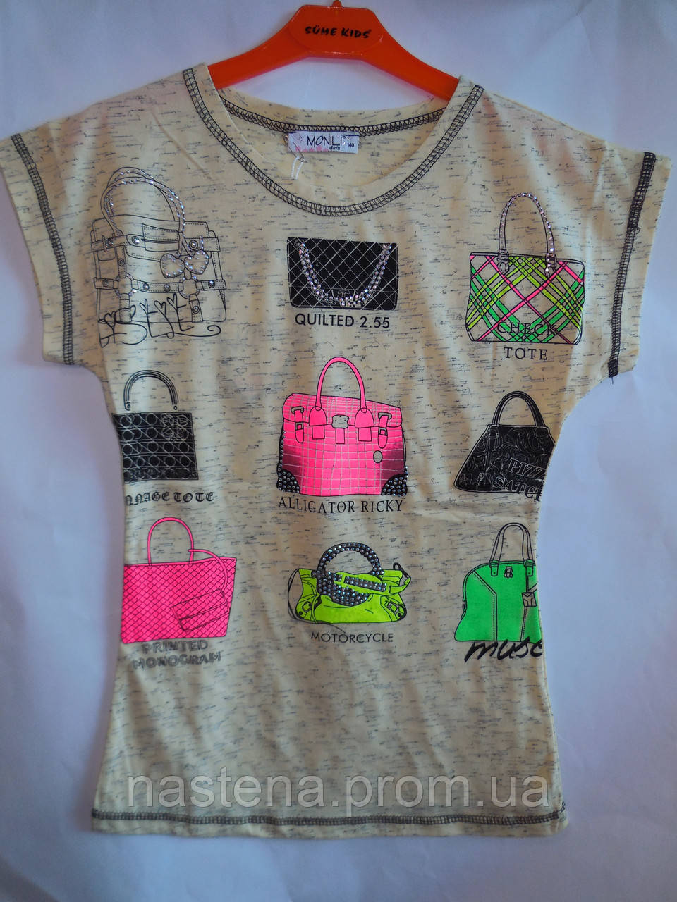 Детская одежда футболка для девочки Monili