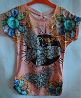 Детская туника для девочки Monili короткий рукав бабочка, фото 1