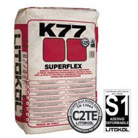 Superflex K77 белый, серый  Litokol Суперфлекс 25 кг (клей для керамогранита)