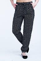 Стильные летние женские брюки в горошек большого размера.