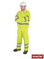 Комплект (костюм) REIS рабочий со светоотражающими полосами UL Y (рабочая одежда)
