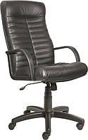 [ Кресло Orbita Lux D-5 + Подарок ] Офисное кресло с пластиковыми подлокотниками экокожа черный