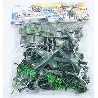 Военный набор 2012  солдатики,  техника,  оружие…в пакете(144шт⁄2)