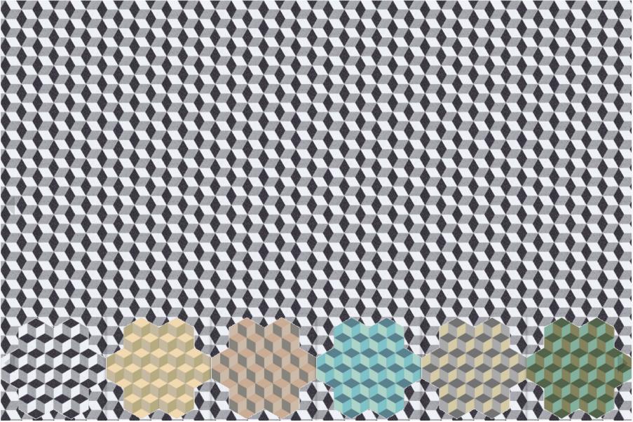 Декоративная цементная плитка ручной работы в марокканском стиле, шестигранник 20х23 см. Декоры